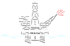 Wellhead platform. Is the one of Oil&Gas industrial business for offshore operation Stock Photos