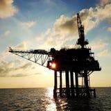 Wellhead platform. Silhouette wellhead patform Royalty Free Stock Photos