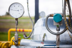 Wellhead Pressure Gauge Stock Photos