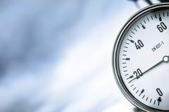 Wellhead Pressure Gauge Stock Image