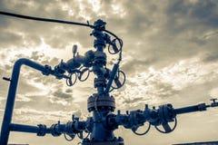 Wellhead z klapy armaturą Fotografia Royalty Free