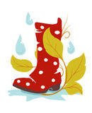 Wellie d'automne illustration stock