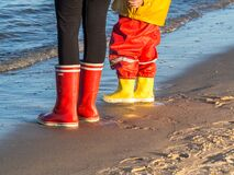 Free Wellies By The North Sea Stock Images - 194054754