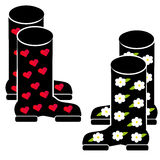 Wellies on white background Royalty Free Stock Image
