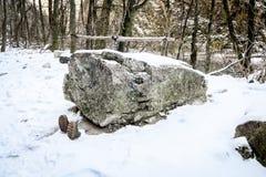 Wellingoton boots - Turda Gorge - Cheile Turzii, Transylvania, Romania. Wellington boots - Turda Canyon in winter (March) time. Turda Gorge - Cheile Turzii  is 6 Royalty Free Stock Photography