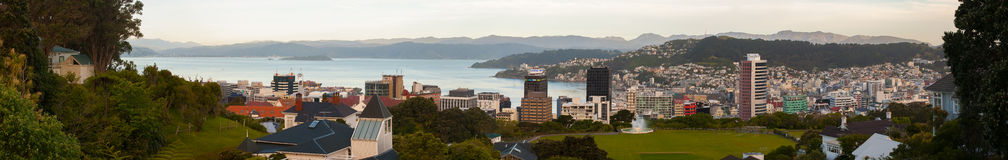 Wellington, Новая Зеландия стоковая фотография rf