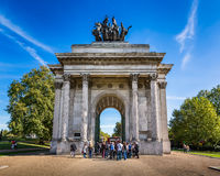 Wellington Arch, aka Constitution Arch or the Green Park Arch, i Stock Images