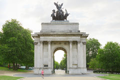 Wellington Arch or Constitution Arch in London Royalty Free Stock Image