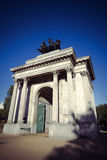 Wellington Arch in evening sunshine in London Stock Image