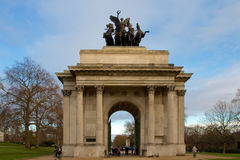 Wellington arch in Hyde park Royalty Free Stock Photography