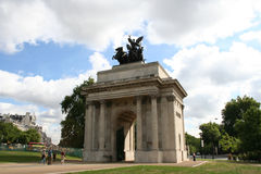 Wellington Arch Hyde Park Corner Stock Photo
