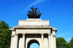 Wellington arch in hyde park corner. London Royalty Free Stock Photo