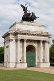 Wellington Arch in London Stock Photo