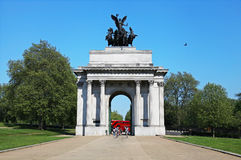 Wellington Arch in London's Hyde Park. Corner Royalty Free Stock Photo