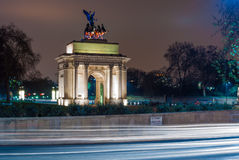 The Wellington Arch in London, UK. Royalty Free Stock Photo