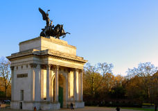 Wellington Arch in London, UK Royalty Free Stock Images