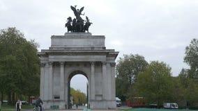 Wellington Arch Memorial BRITÂNICO video estoque