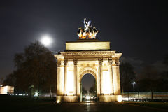 The Wellington Arch at Night Stock Images