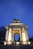 The Wellington Arch at Night Stock Image