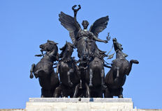 Wellington Arch Quadriga Photographie stock libre de droits
