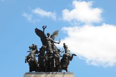 Wellington Arch statue London England Stock Images
