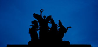 Wellington Arch Statue in London Stock Images
