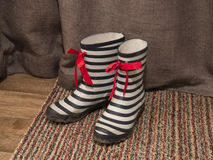 A pair of wellington boots. Royalty Free Stock Photography
