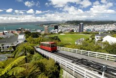 Wellington Cable Car. This image was shot in wellington new zealand and depicts the view from the cable car lookout Stock Images