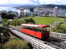 Wellington Cable Car. North Island, New Zealand Royalty Free Stock Images