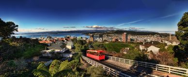 Wellington Cable Car New Zealand foto de stock royalty free