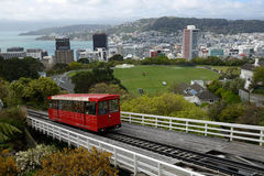 Wellington cable car Royalty Free Stock Images