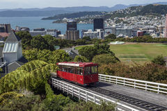 Wellington Cable Car, Nova Zelândia imagem de stock royalty free