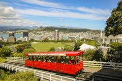Wellington Cable Car. View from the top of Wellington Cable Car looking out over the city Royalty Free Stock Photos