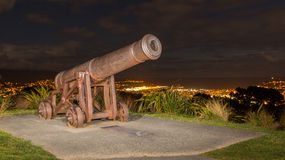 Wellington Canon. Old canon on a hill at Wellington, New Zealand Royalty Free Stock Images