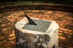 Stone Sundial. stock photo