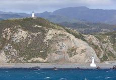 Wellington City Lighthouses Lizenzfreie Stockbilder