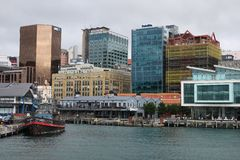 Coming into Wellington by ferry. New Zealand. stock images