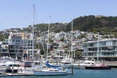 Wellington City Marina Lizenzfreies Stockbild
