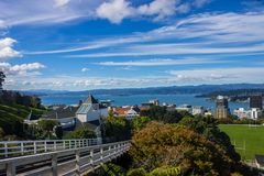 Wellington city. New Zealand`s second largest city is also the capital Stock Image