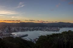 Wellington city. New Zealand`s second largest city is also the capital Stock Images
