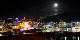 Wellington city at night Stock Images