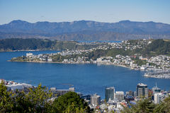 Wellington City Panorama dalle colline di Tinakori Immagine Stock