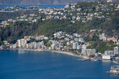 Wellington City Panorama dos montes de Tinakori Imagem de Stock