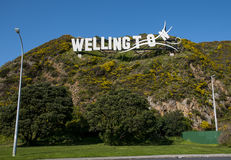 Wellington City Panorama dos montes de Tinakori Fotografia de Stock