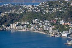 Wellington City Panorama von Tinakori-Hügeln Stockbild
