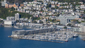 Wellington City Panorama von Tinakori-Hügeln Lizenzfreie Stockfotografie