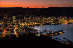 Wellington City Twilight photos stock