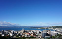Wellington City View Stock Afbeeldingen