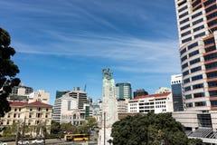 Wellington City War Memorial Statue stock images
