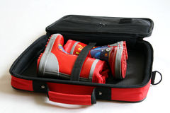 Wellington czerwone buty Obraz Stock